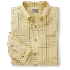 L.L. Bean Wrinkle-Free Traditional Fit Windowpane